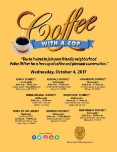National Coffee With a Cop Day - MDPD @ see locations below