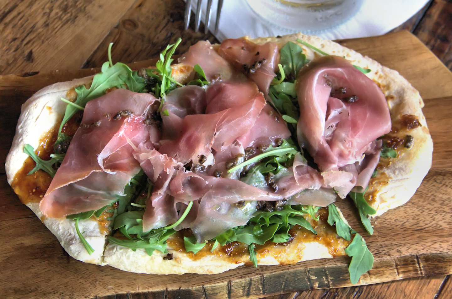 Fig and black truffle pizza