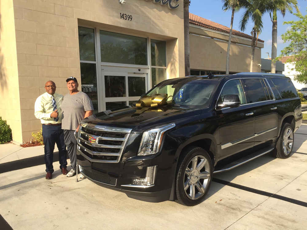 """DWAYNE """"THE ROCK"""" JOHNSON Buys His Daddy A New Cadillac From Sunrise"""