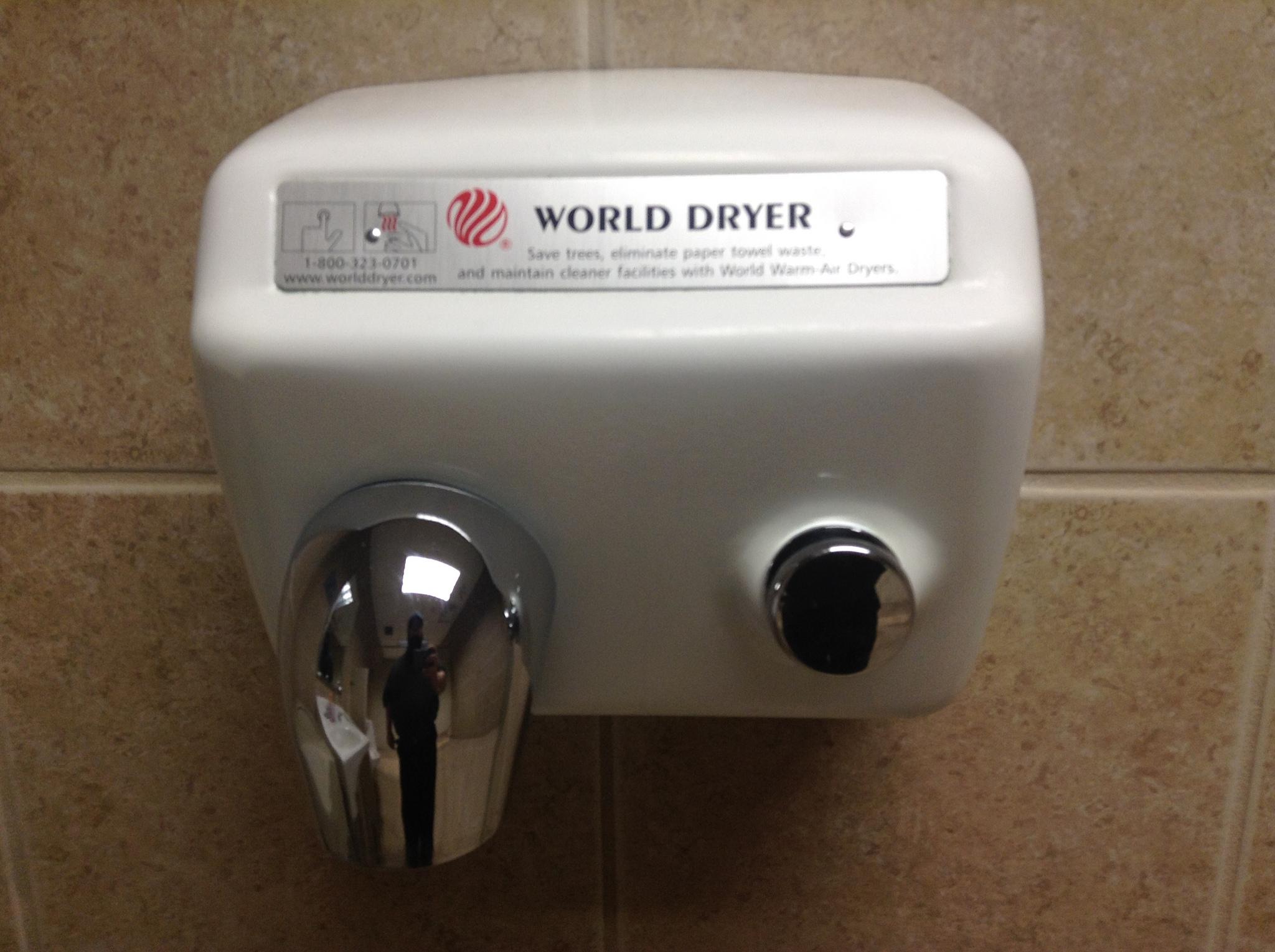 apparently drying our hands - Air Hand Dryers