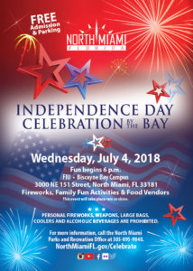 North Miami Independence Day Celebration By the Bay @ Behind FIU Kovens Center | North Miami Beach | Florida | United States