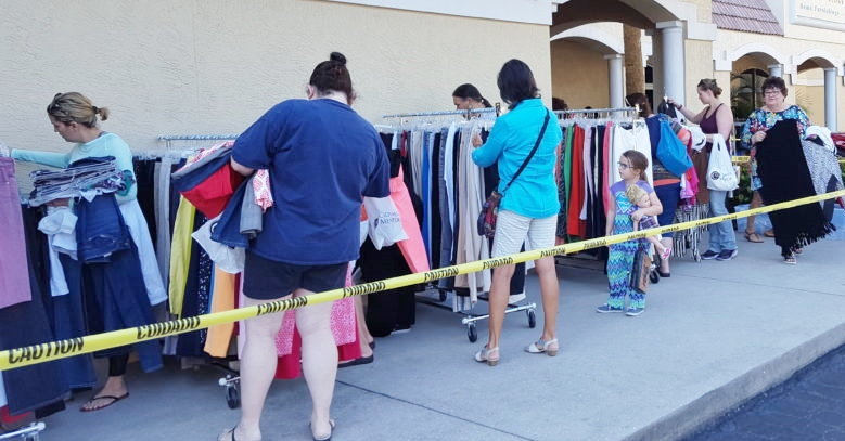 clothes mentor s 4th annual sidewalk sale to raise money for the gabriel house video south. Black Bedroom Furniture Sets. Home Design Ideas