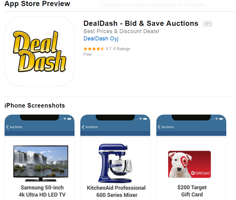 let the dealdash app show you the way to more business south