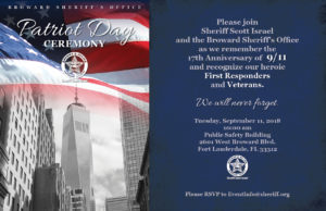 BSO Patriot Day Remembrance Ceremony @ Public Safety Building | Fort Lauderdale | Florida | United States
