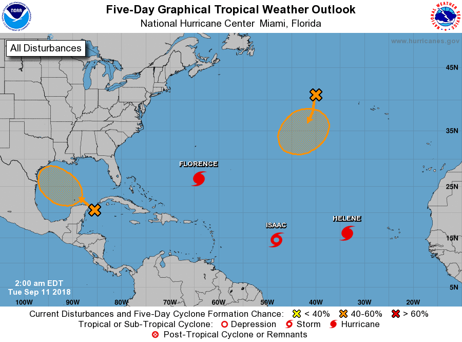 Day Elsewhere Disturbance In The Northwestern Caribbean Has Medium Chance Of Developing After It Moves Over Yucatan And Into Southern Gulf