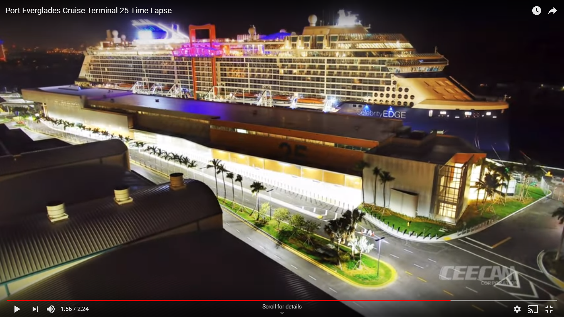 Watch Port Everglades S Newest Terminal Built In 150 Seconds South Florida Reporter