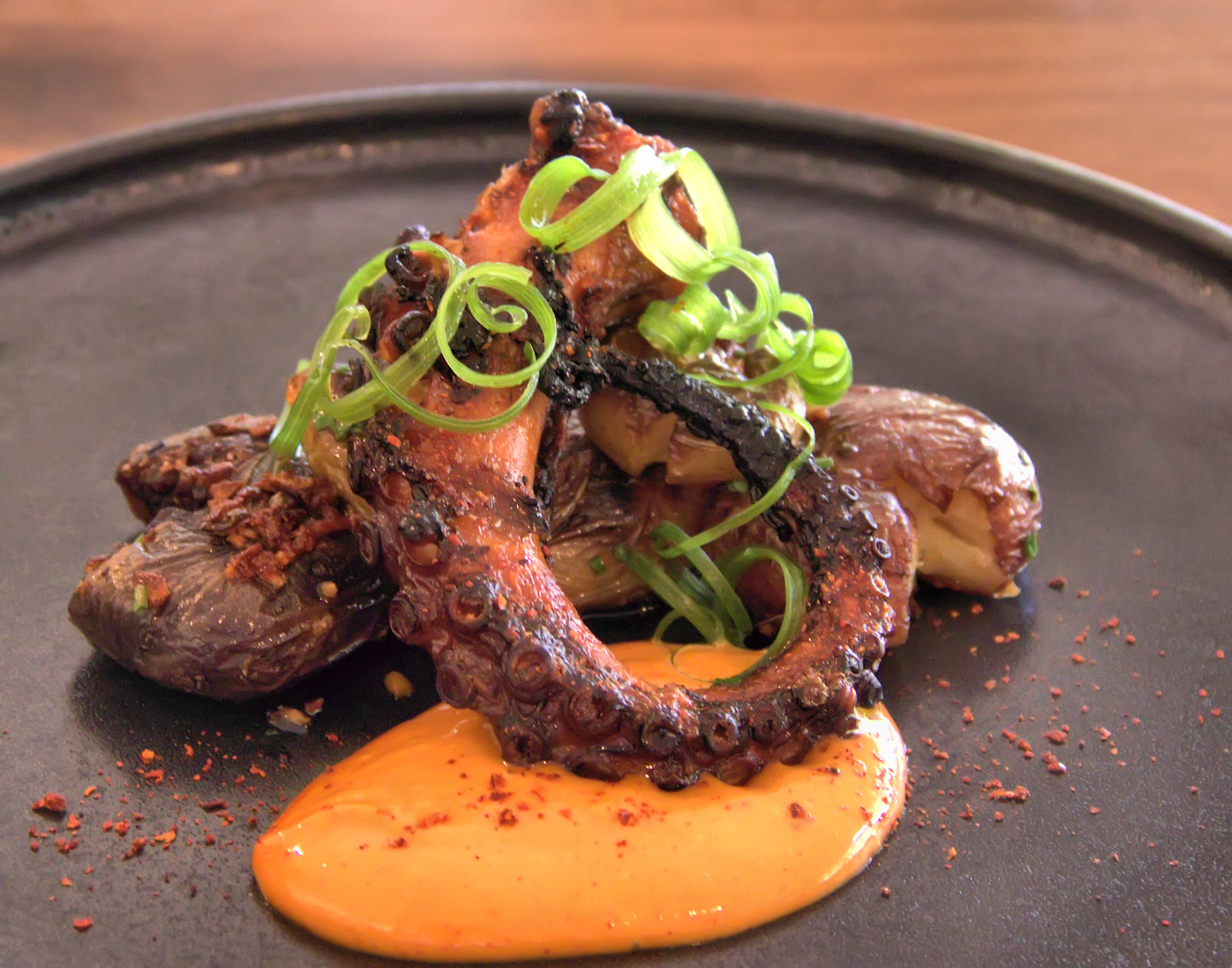 Confit of octopus