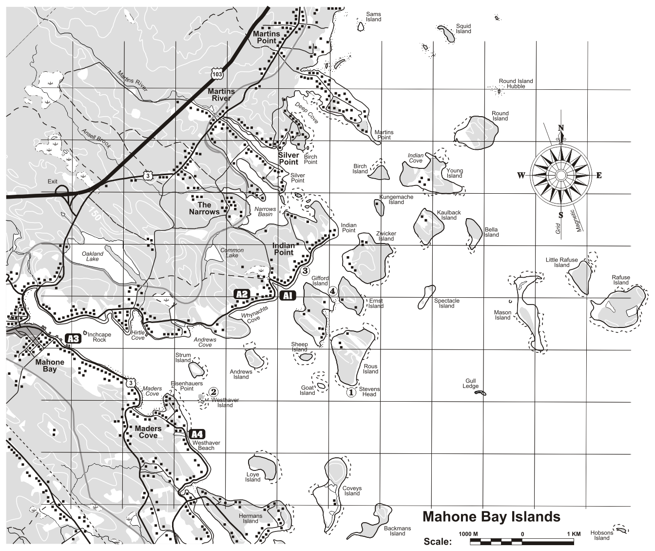 Paddle LunenburgQueens Ocean Route Mahone Bay Indian Point Area - Us navy map mahone bay ns