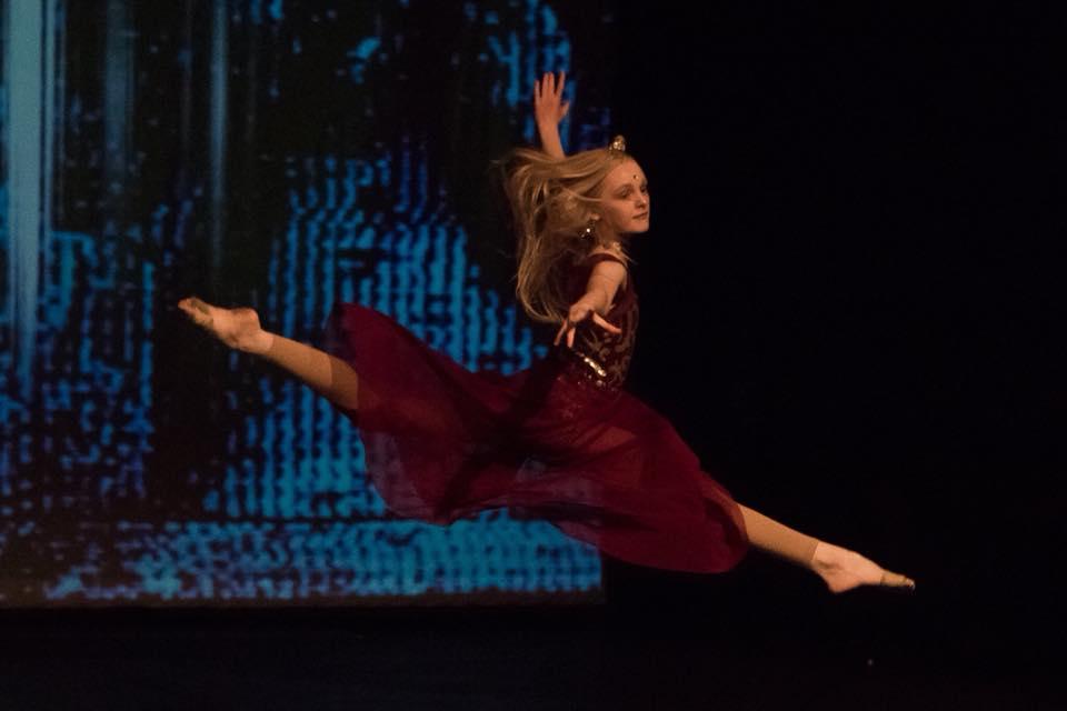girl in dance leap