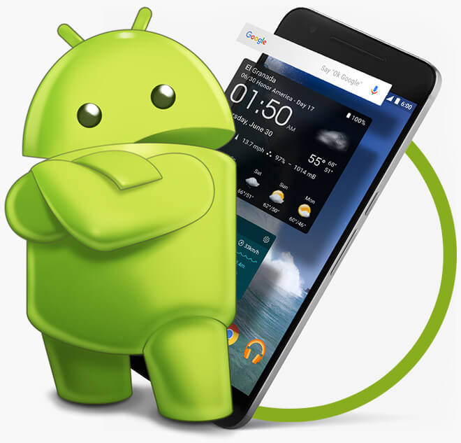 Android app development company for Application miroir android