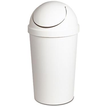 Sterilite White Swing Top Trash Can Amp Wastebasket 10 5