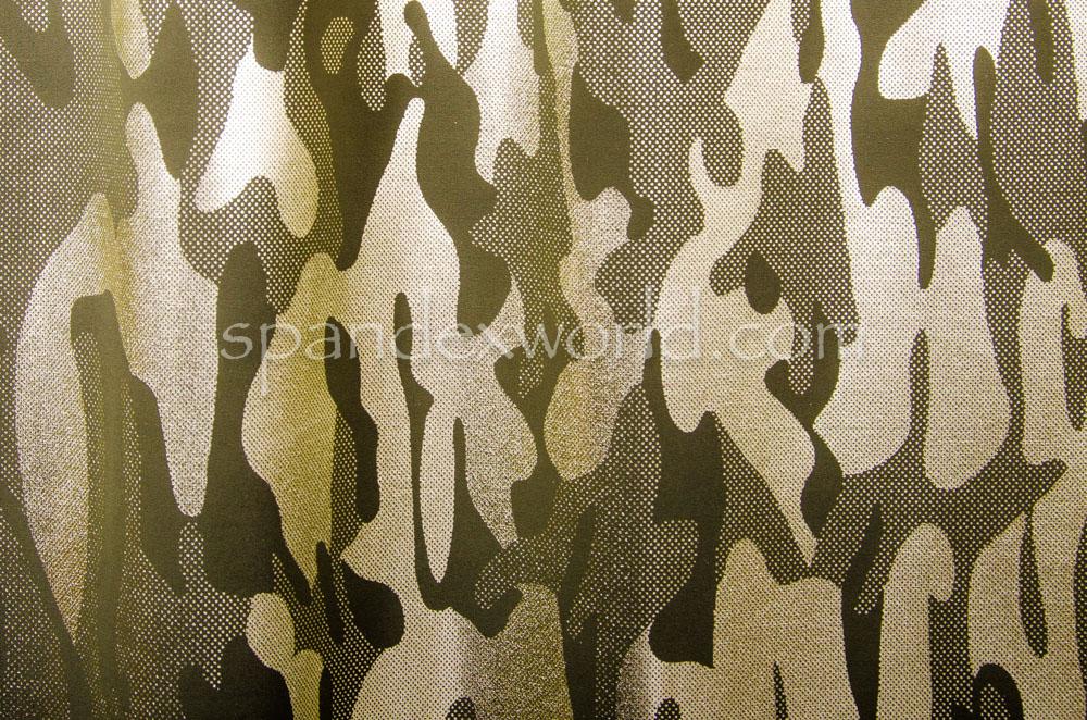 Pattern/Abstract Hologram (Olive/Lt Gold)