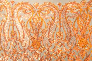 Stretch Sequins (Nude/Orange Pearl)