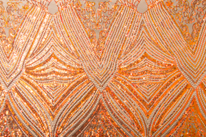 Stretch Sequins (Nude/Copper Pearl)
