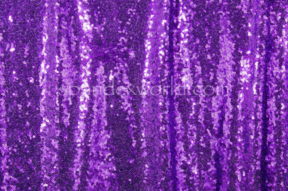 Non-Stretch Sequins(Purple/Purple)