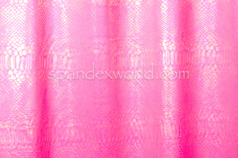 Snake Print Hologram (Hot Pink/Rainbow)