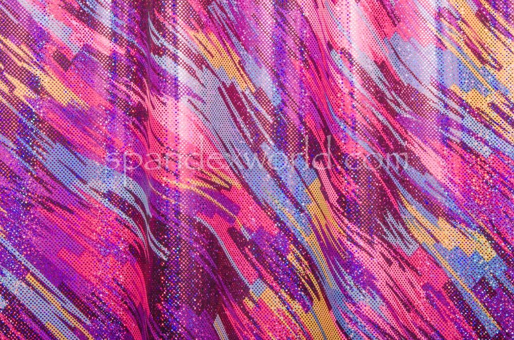 Pattern/Abstract Hologram (Yellow/Purple/Black/Multi)