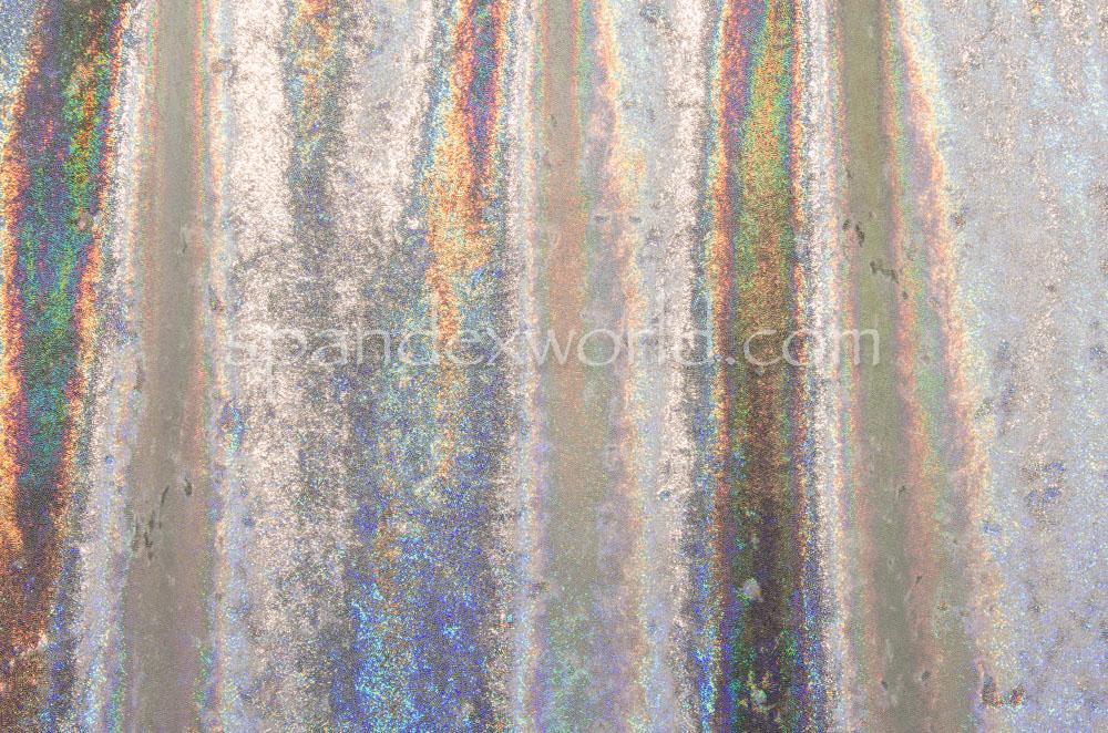 Metallic Stretch Velvet (Gray/Silver)