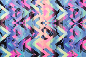 Printed spandex (Neon/Multi)