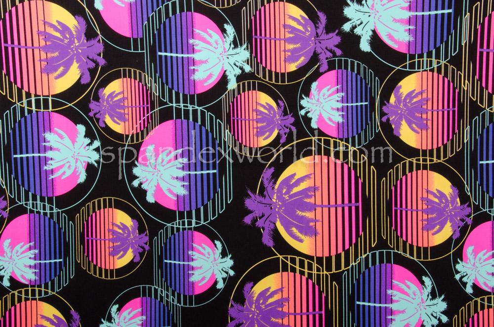 Printed Spandex (Pink/Purple/Multi)