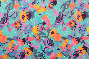 Floral Print (Orange/Fuchsia/Multi)