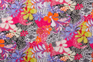 Floral Prints (Blue/Fuchsia/Multi)