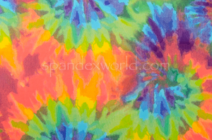 Tie Dye spandex (Turquoise/Orange/Multi)