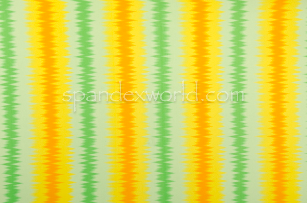 Printed Spandex (Yellow/Green/Orange)