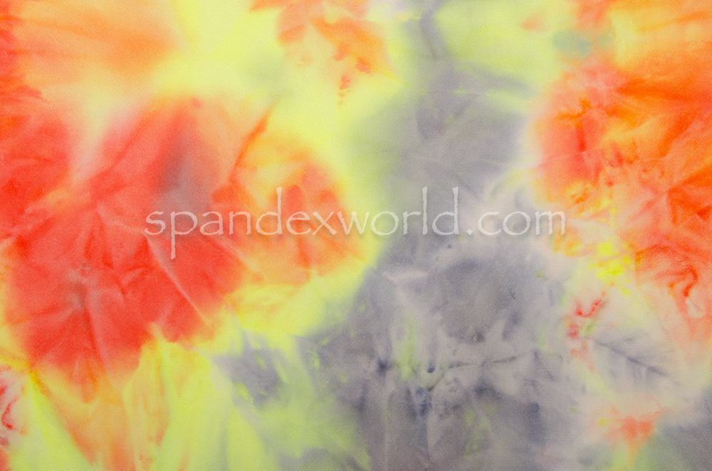 Tie Dye Crepe (Red/Yellow/Multi)
