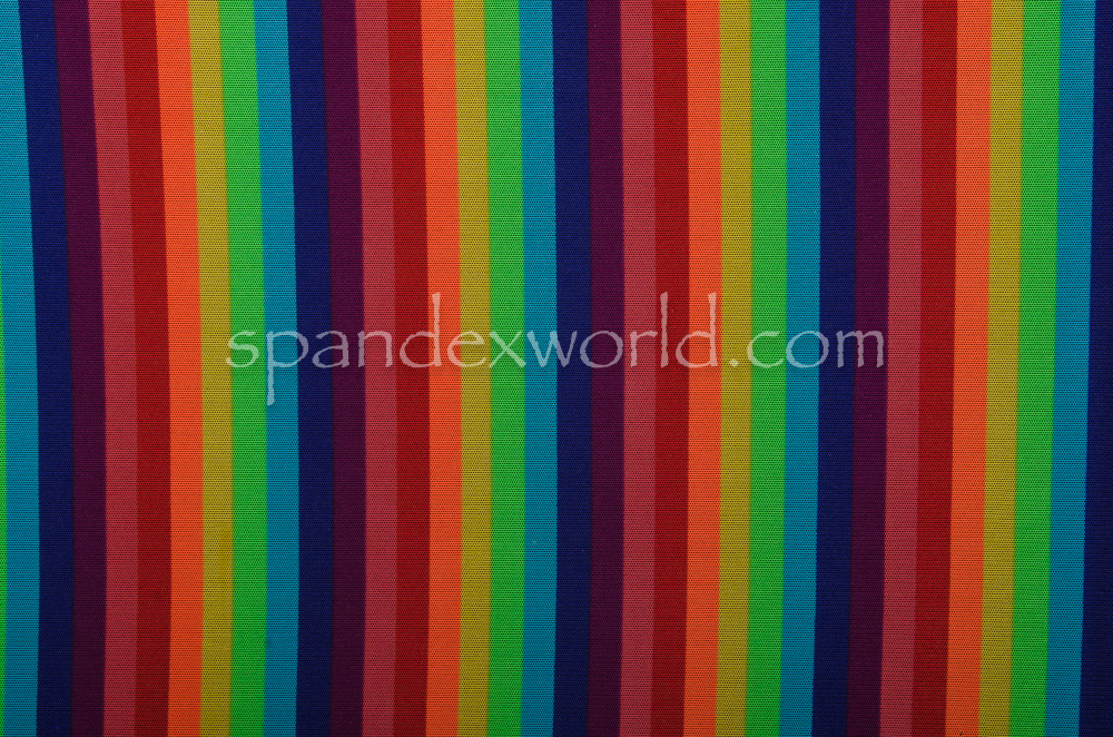 Printed Mesh (Rainbow Stripes)