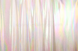 2 Way Reflective Metallic Spandex (White/Rainbow)