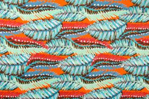 Abstract Print Spandex (Orange/Multi)
