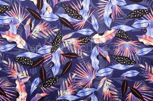 Abstract Print Spandex (Purple/Multi)