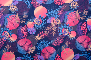 Abstract Print Spandex (Blue/Multi)