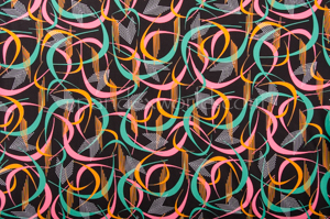 Abstract Print Spandex (Brown/Pink/Multi)
