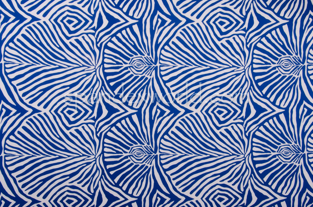 Abstract Print (White/Blue)