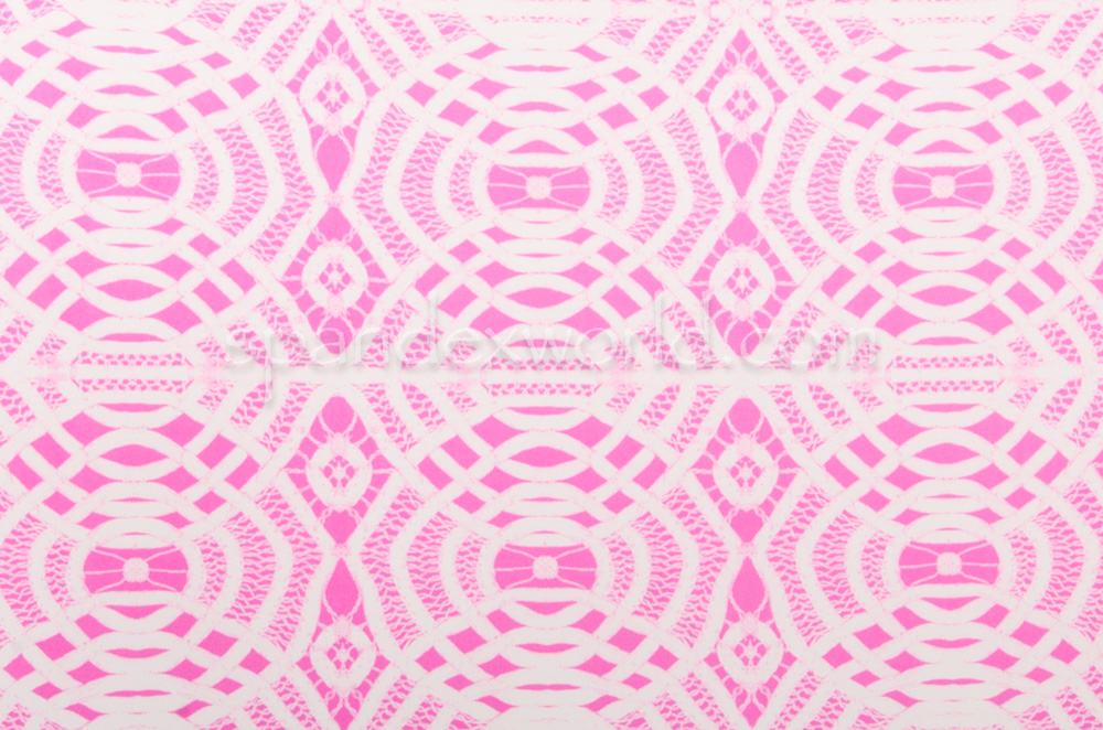 Abstract Print (White/Pink)