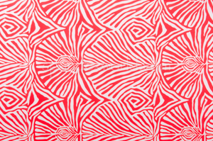 Abstract Print (White/Red)