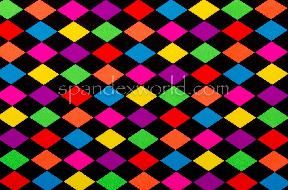 Diamond prints  (Black/Green/Purple/Yellow/Multi)