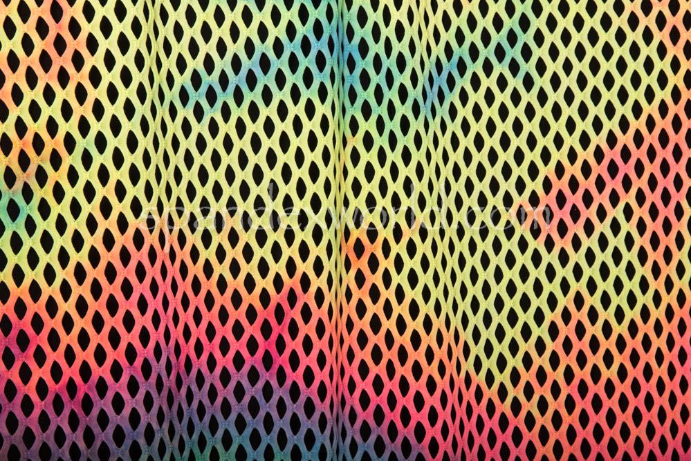 Tie Dye Cabaret Net (Lime/Fuchsia/Purple Tie Dye)