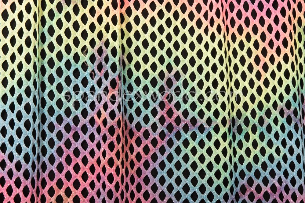Glitter Cabaret net -(Lime/Silver/Multi)
