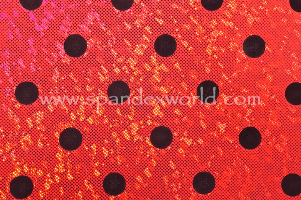 Polka Dot hologram (Red/Red/Black)