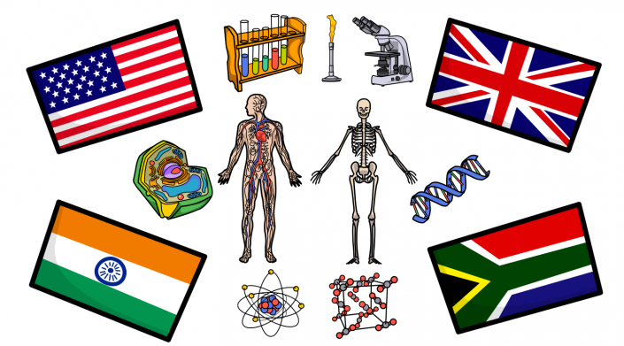 Science and Flag images