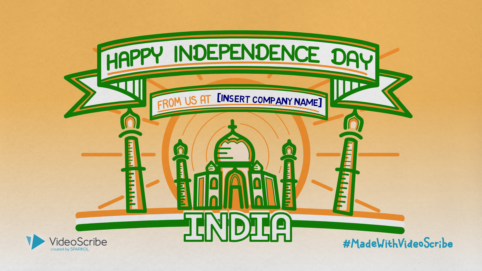 Your customizable 'Happy Indian Independence Day' video template