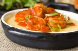 BBQ Shrimp with Creamy Cheese Polenta