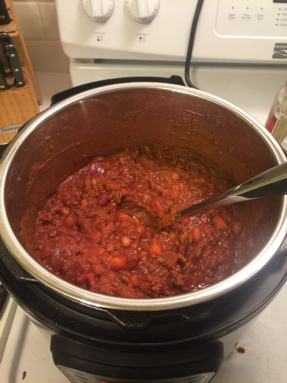 Instant pot chili recipes sparkrecipes for Instant pot fish recipes
