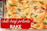 Chili Beef Polenta Bake