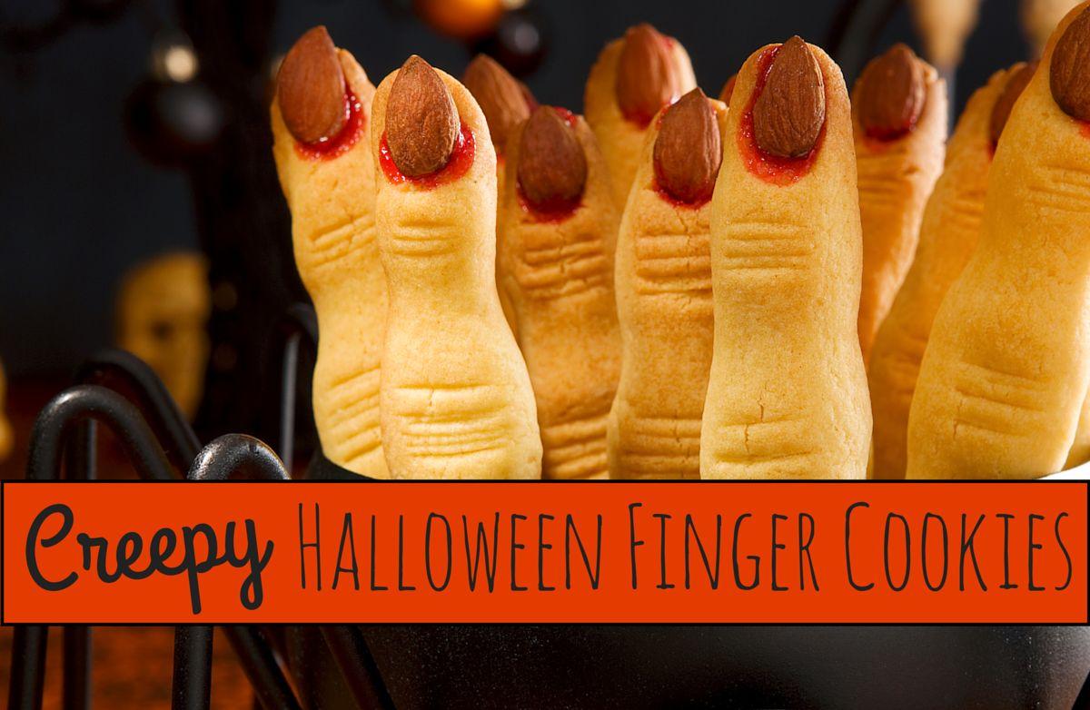 Creepy Halloween Finger Cookies