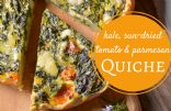 Crustless Kale, Sundried Tomato, and Parmesan Quiche