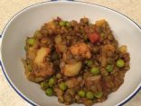 Dal with Cauliflower and Peas